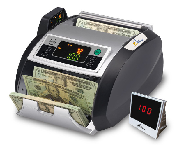 RBC-2100 Bill Counter with External Display System - Supports New US $100 Notes