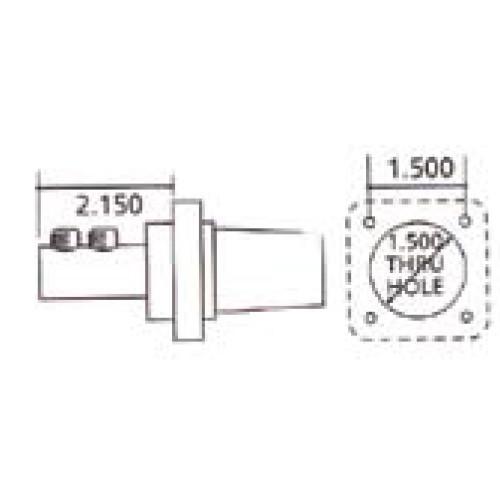 LEX 400 Amp Cam-Type 16 Series Panel Female Double Set