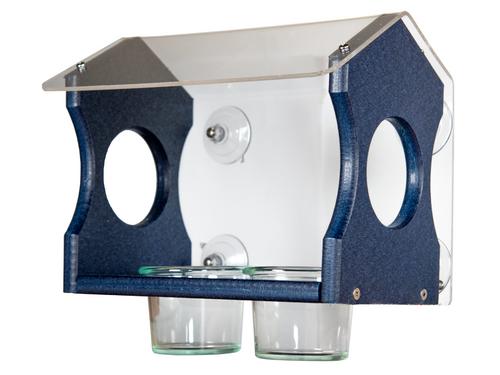 JCs Wildlife Recycled Poly Bluebird Window Mealworms Feeder Diner
