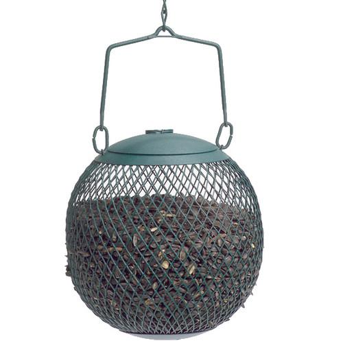 No No Seed Ball Feeder Green Dispenses Black Oil Sunflower Seeds