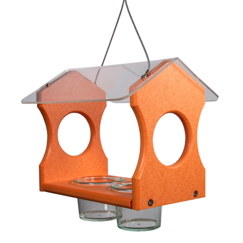 Nature Products USA Poly Lumber Orange Oriole Bird Feeder 3000