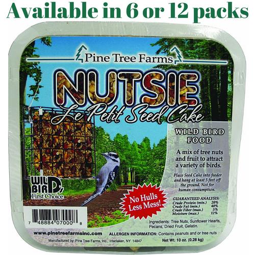 Pine Tree Farms Nutsie Suet Cake 10 oz. (6 or 12 Packs)