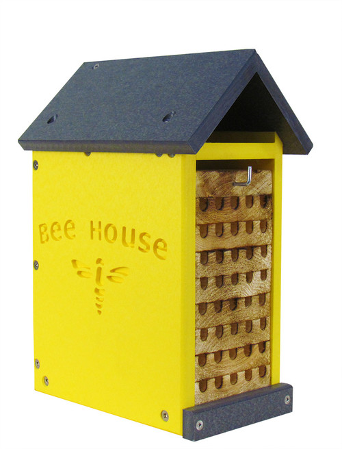 JCs Wildlife Small Poly Lumber and Pine Mason Bee House - Made in the USA