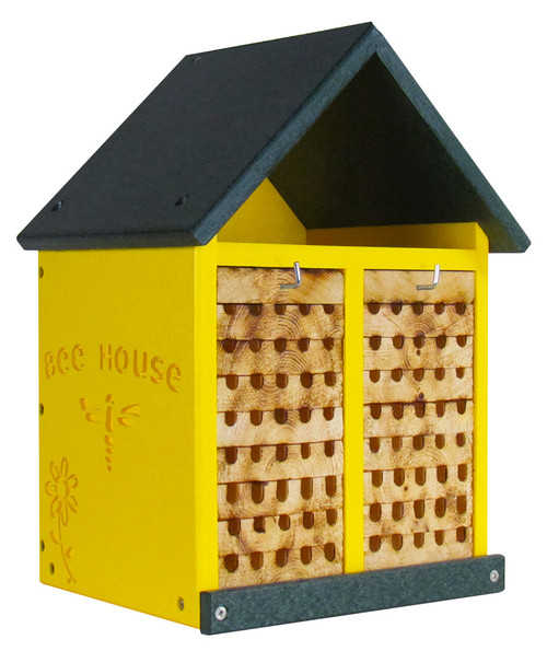 JCs Wildlife Double-Wide Large Poly Lumber and Pine Mason Bee House - Handmade in the USA
