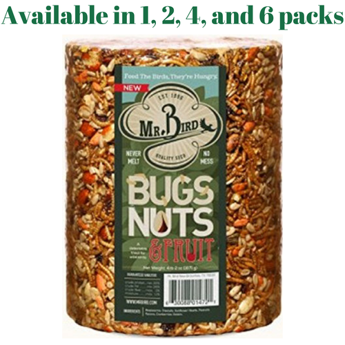 Mr. Bird Bugs, Nuts, & Fruit Large Cylinder Bugs, Nuts & Fruit 4 lbs. 2 oz. (1, 2, 4, or 6 Packs)