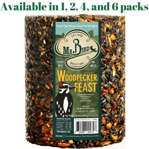 Mr. Bird Woodpecker Feast Large Wild Bird Seed Cylinder (1, 2, 4, or 6 Packs)