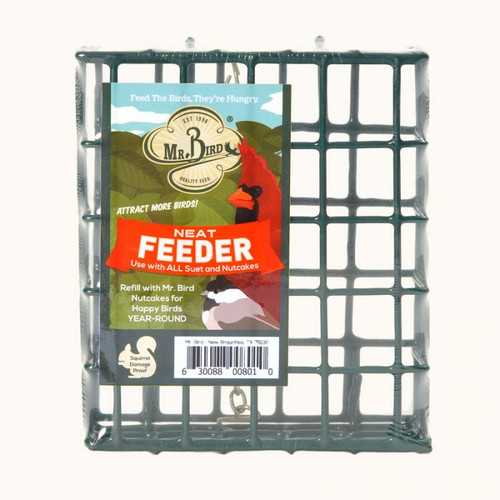Mr. Bird Suet & Small Wild Bird Seed Cake NeatFeeder