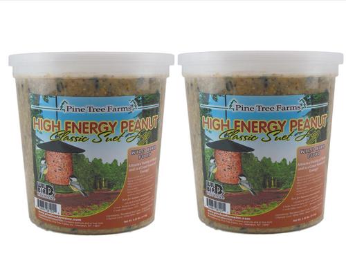 2-Pack Pine Tree Farms High Energy Peanut Classic Suet Log 5.25 lbs.