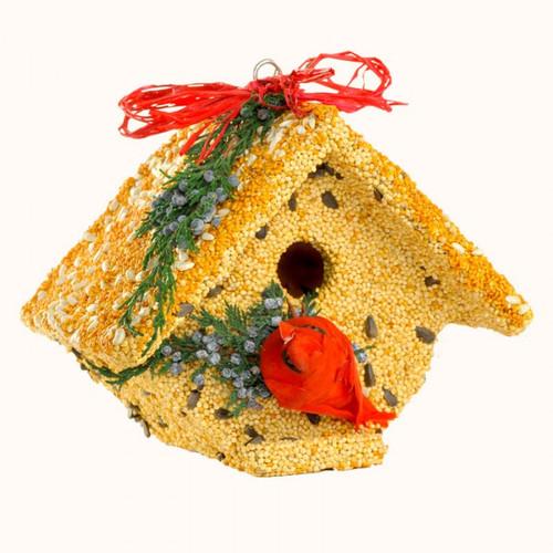 Mr. Bird Wren Casita Christmas w/ Cardinal