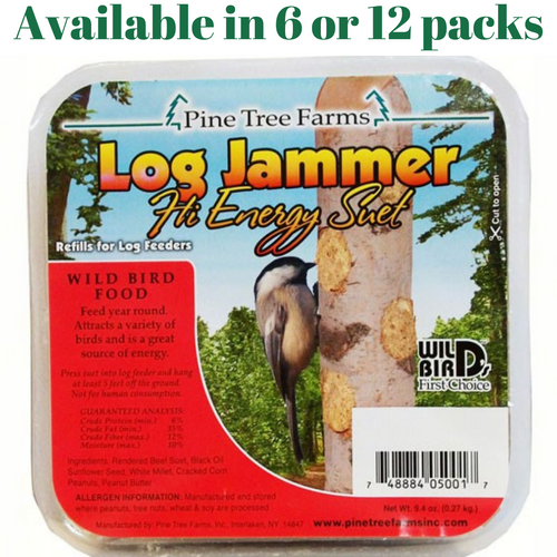 Pine Tree Farms Log Jammers Hi Energy Suet 3 Plugs Per Pack