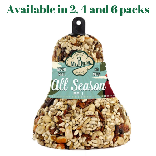 Mr. Bird All Season Fruit & Nut Wild Bird Seed Bell 14 oz. (2, 4 and 6 Packs)