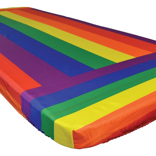 In the Breeze Rainbow 6 Foot Fitted Tablecloth