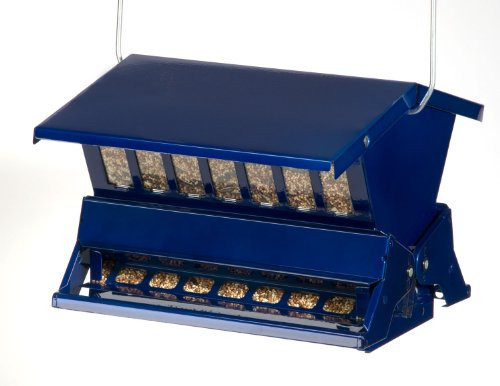Electric Blue Woodlink Absolute II Squirrel Resistant Bird Feeder Model 7537