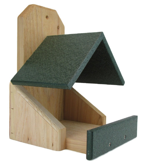 JCs Wildlife Cedar Robin Roost Birdhouse with Recycled Poly Lumber Roof