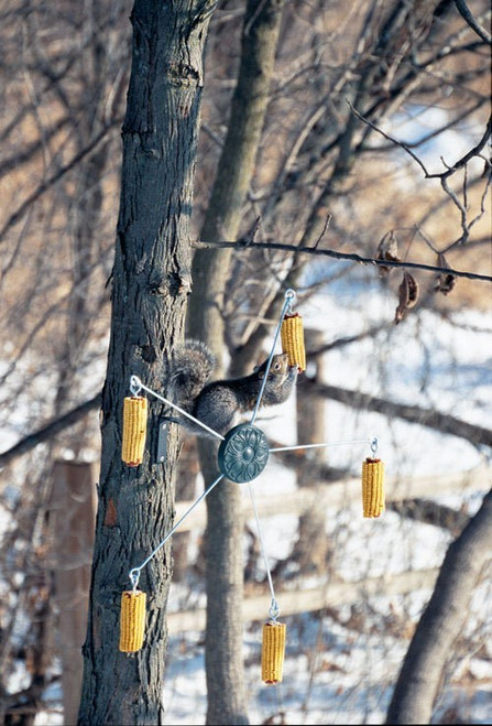 Squirrel Go Round Feeder Corn Feeder Tree or post model 5560