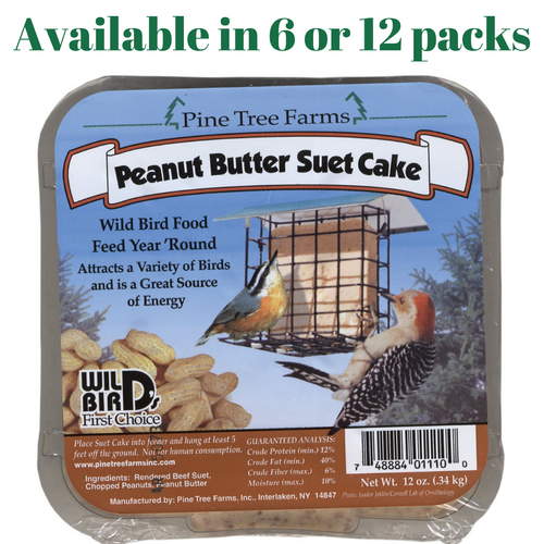 Pine Tree Farms Peanut Butter Suet Cake Wild Bird Food