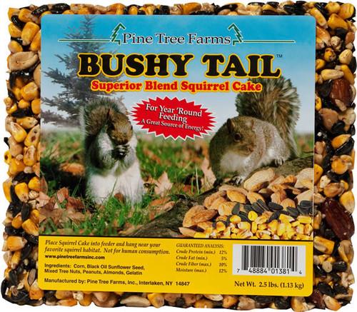 Pine Tree Farms 1381 Bushy Tail 2.5 Pound Squirrel Cake (1, 2 and 8 Packs)