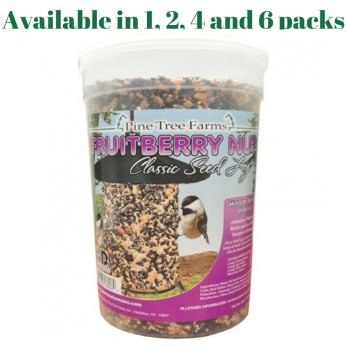Pine Tree Farms 8006 Fruit Berry Nut Classic Seed Log, 68-Ounce (1, 2, 4 and 6 Packs)