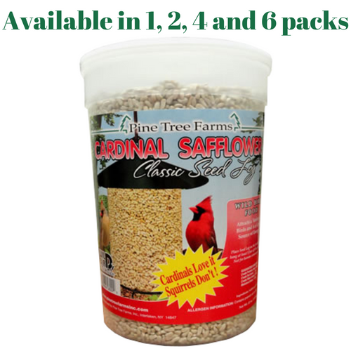 Safflower Classic Seed Log Pine Tree Farms 62 oz. 8009 (1, 2, 4 and 6 Packs)