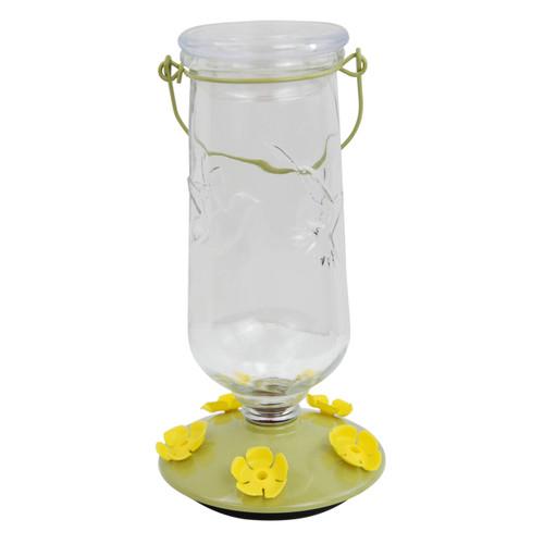 Perky-Pet 9108-2 Desert Bloom Top-Fill Glass Hummingbird Feeder 32 oz