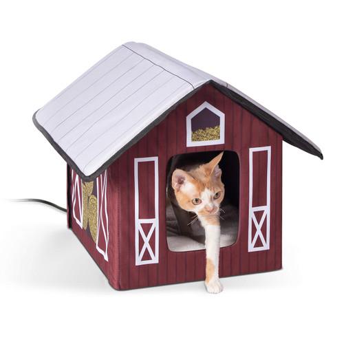 K&H Outdoor Heated Kitty House Barn