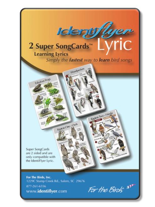 Identiflyer Lyric 2 Super SongCards, 30 Birds and 10 Frogs, SSC43