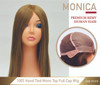 Custom made Silk Top Hair Loss Medical Wig Monica