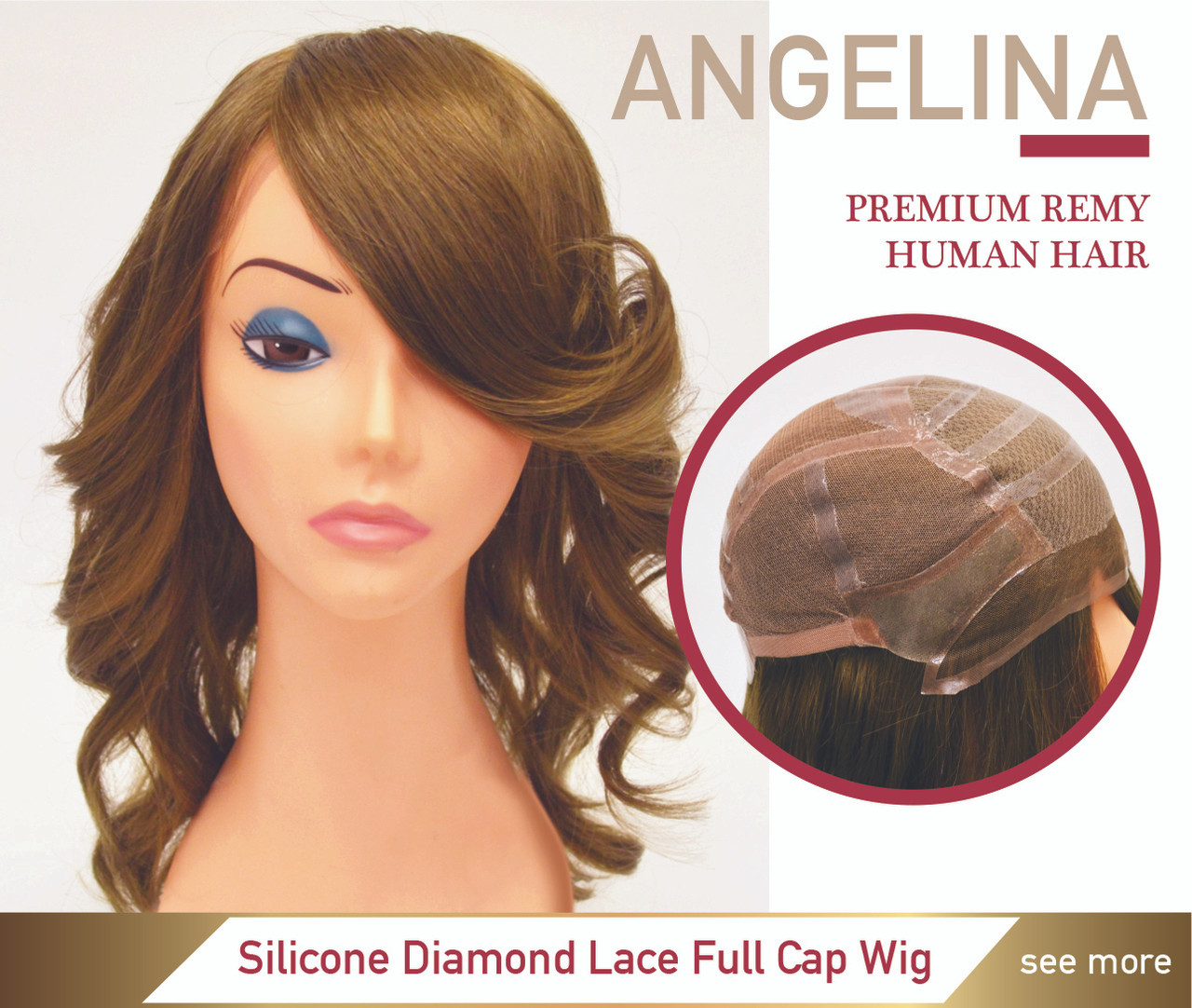 Angelina Premium Human Hair Silicone Full Cap Women Wig - Superhairpieces.ca ba59ebef7a