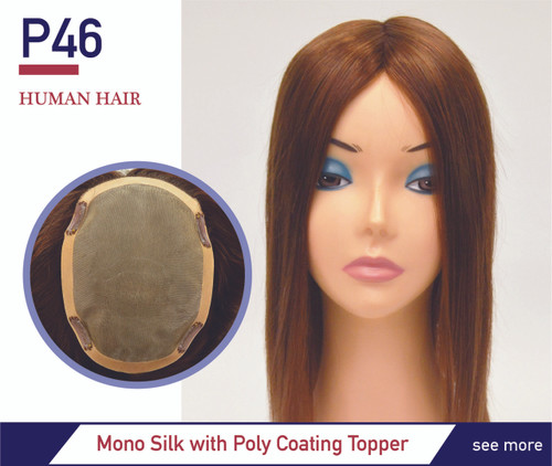 "Top Secret 14"" Silk Top Hairpiece P46"
