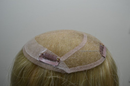 Custom Made Lady's Top Piece French Lace Hairpiece T47