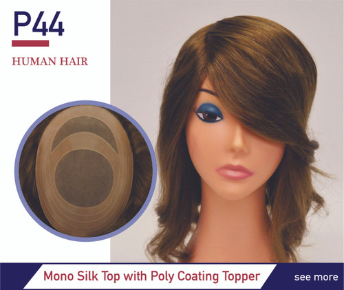 Monofilament silk lace top hairpiece
