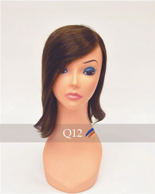Queen 12 Stock Swiss Lace Lady's Top Hairpiece