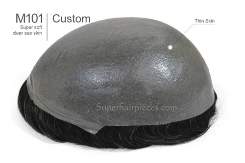 Custom Made M101 Poly Thin Skin Hairpiece