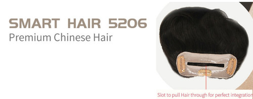 Smart Hair 5206 - Women's Frontal Bald Hair Loss Front Hair Line Add On Hairpiece