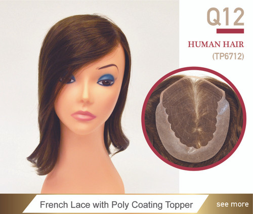 Custom Women's French Lace w/ Poly Top Hairpiece - Queen