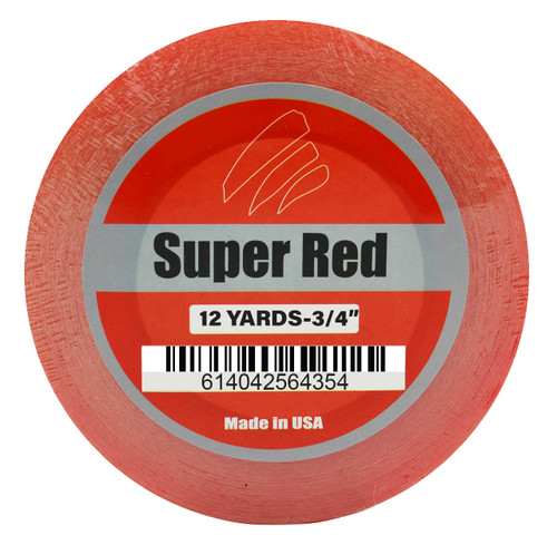 "Super Red Liner Tape 3/4"" x 12 Yards"