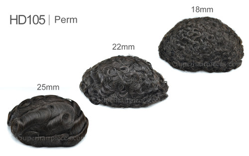 """HD105 8""""x 10"""" French Lace Permed Wavy Curly Hair in Stock"""
