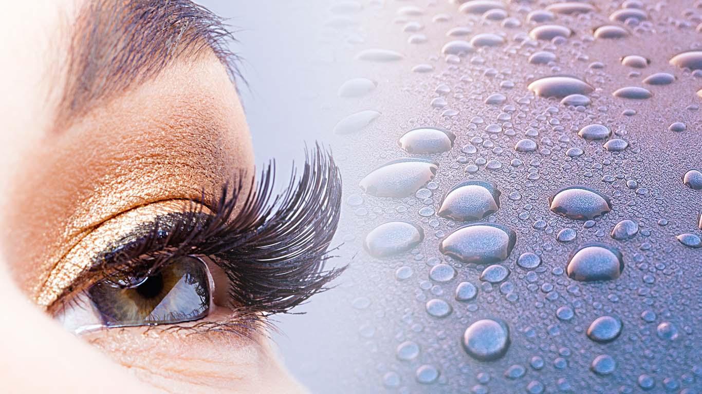 Waterproof eyelash extensions