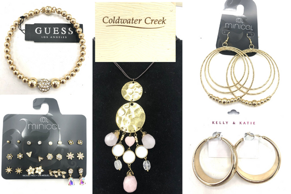 50 PIECE Jewelry Lot - The Limited,  Guess, Minicci, Kelly + Katie & More