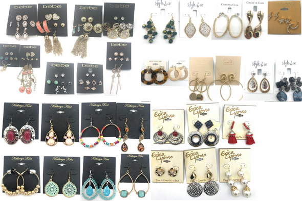 50 Pair All Designer Name Brand Earrings-Amazing Lot- Qualilty