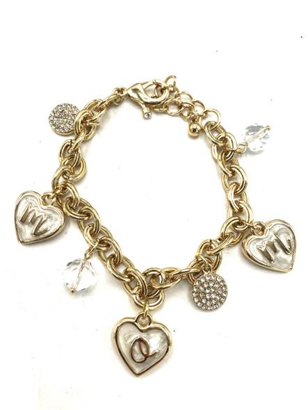 Mom Bracelet made with Swarovski Crystals
