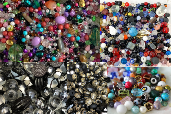 100 LBS Incredible Bead Assortment! Tons different Styles+ Colors- Free Shipping!!
