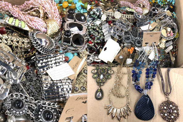 100 lbs Name Brand JEWELRY LOT Some Perfect, Some not