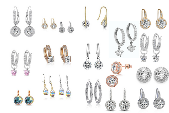 100 pair Swarovski Elements Earrings -Perfect For Holiday SALES!!