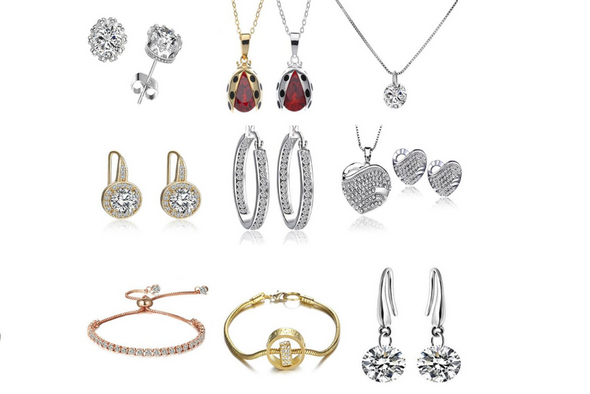 50 Swarovski Crystal Necklaces w Beautiful Gift Box- LOTS STYLES
