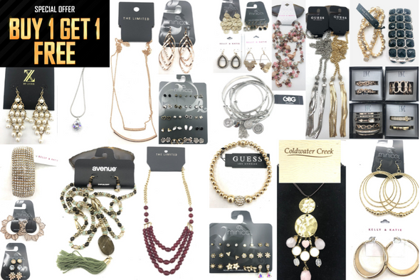 Buy 1 Get 1 FREE!! $2,700.00 Jewelry Lot- ALL Name Brands