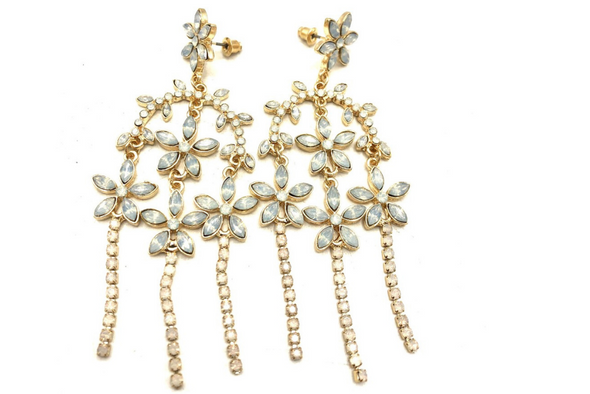 Crystal AB Chandelier  Earrings made with Swarovski elements