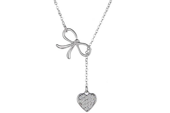 Heart Necklace Made  w/Swarovski Elements