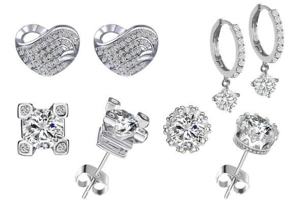 12 pair Swarovski Elements Earrings