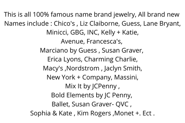 500 piece  Famous Name Brand jewelry Lot  All New Just Arrived !! Special 2 days Only